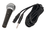 "Handheld microphone with  1/4"" plug"