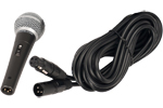 Handheld microphone with 20' XLR cable