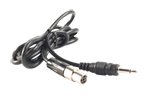 Belt-pack to 3.5 mm mono adaptor cable